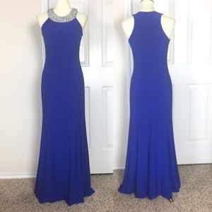 Cachet Gown Maxi Dress in Royal Blue